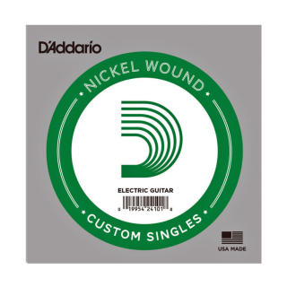 D'Addario Nickel Wound Electric Guitar Single String, .021 NW021
