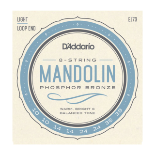 D'Addario EJ73 Mandolin Strings, Phosphor Bronze, Light, 10-38 EJ73