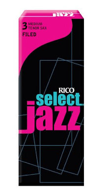 D'Addario Select Jazz Filed Tenor Saxophone Reeds, Strength 3 Medium, 5-pack, RSF05TSX3M
