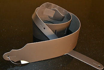 "Franklin 3"" wide Side Leather Strap, no padding brown - SLC-BR - Made in USA"