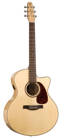 Seagull Performer Cutaway Mini Jumbo Flame Maple QI Acoustic Electric Guitar