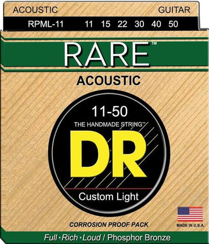 Dr Rare RPML-11 Phosphor Bronze Acoustic Guitar Strings