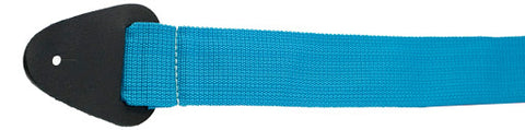 Perri's Leathers Blue nylon GUITAR strap, NWS20-2083