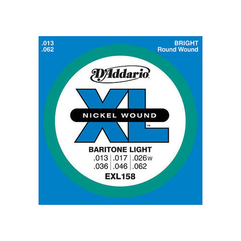 D'Addario EXL158 Nickel Wound, Baritone Light, 13-62
