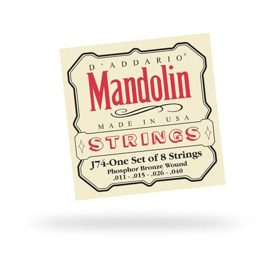 DAddario J74 Mandolin Phosphor Bronze 11-40 Medium - Blue Bus Music