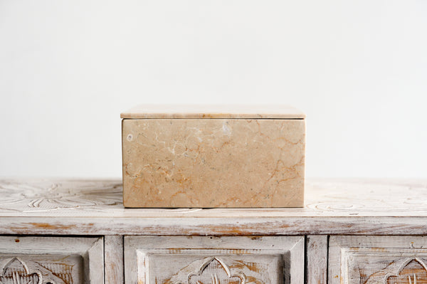 Large Square Marble Box with Lid