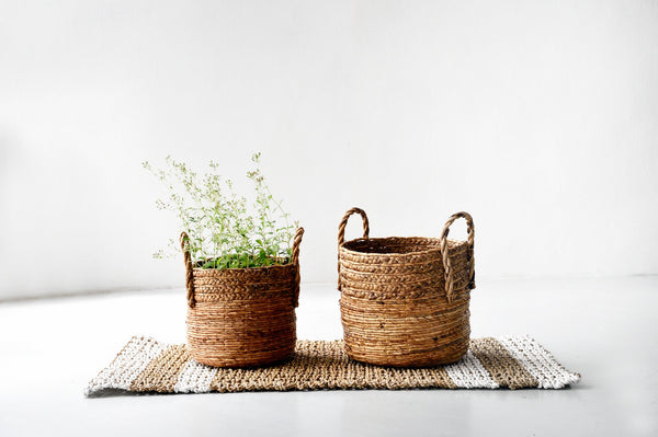 Natural Woven Banana Leaf Baskets