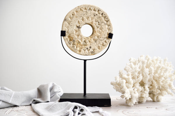 Timor Carving Disc on Stand - Decor