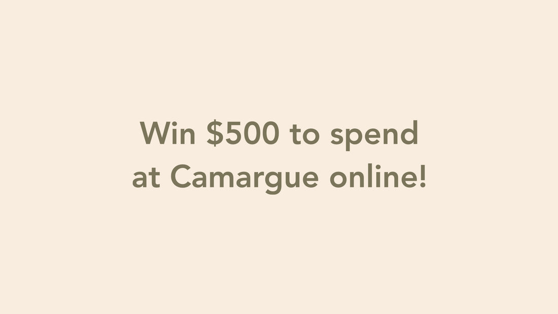 Win $500 to spend at Camargue online!