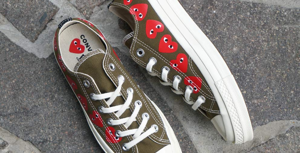 Comme des Garcons PLAY X Converse sneakers