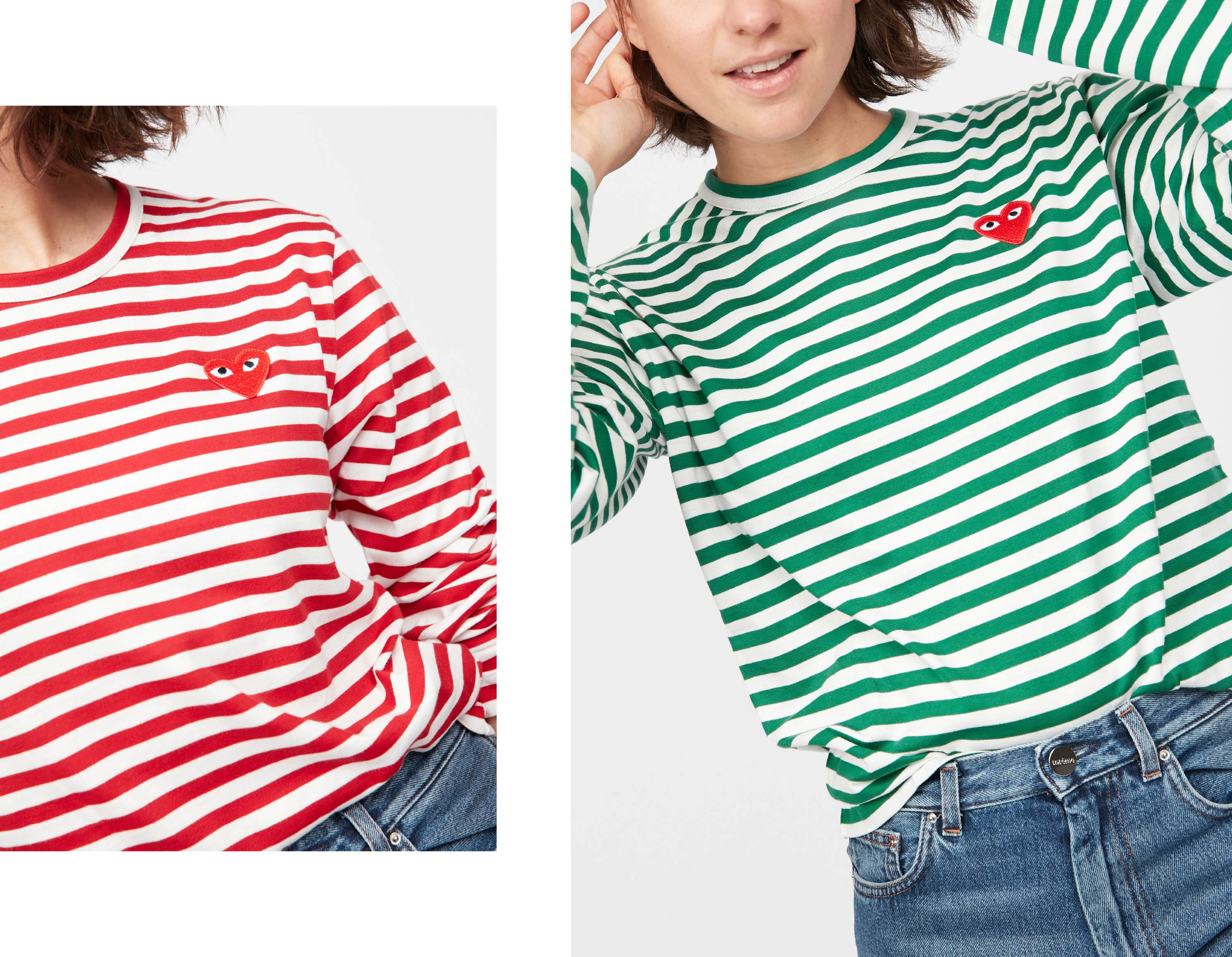 Comme PLAY striped Shirt