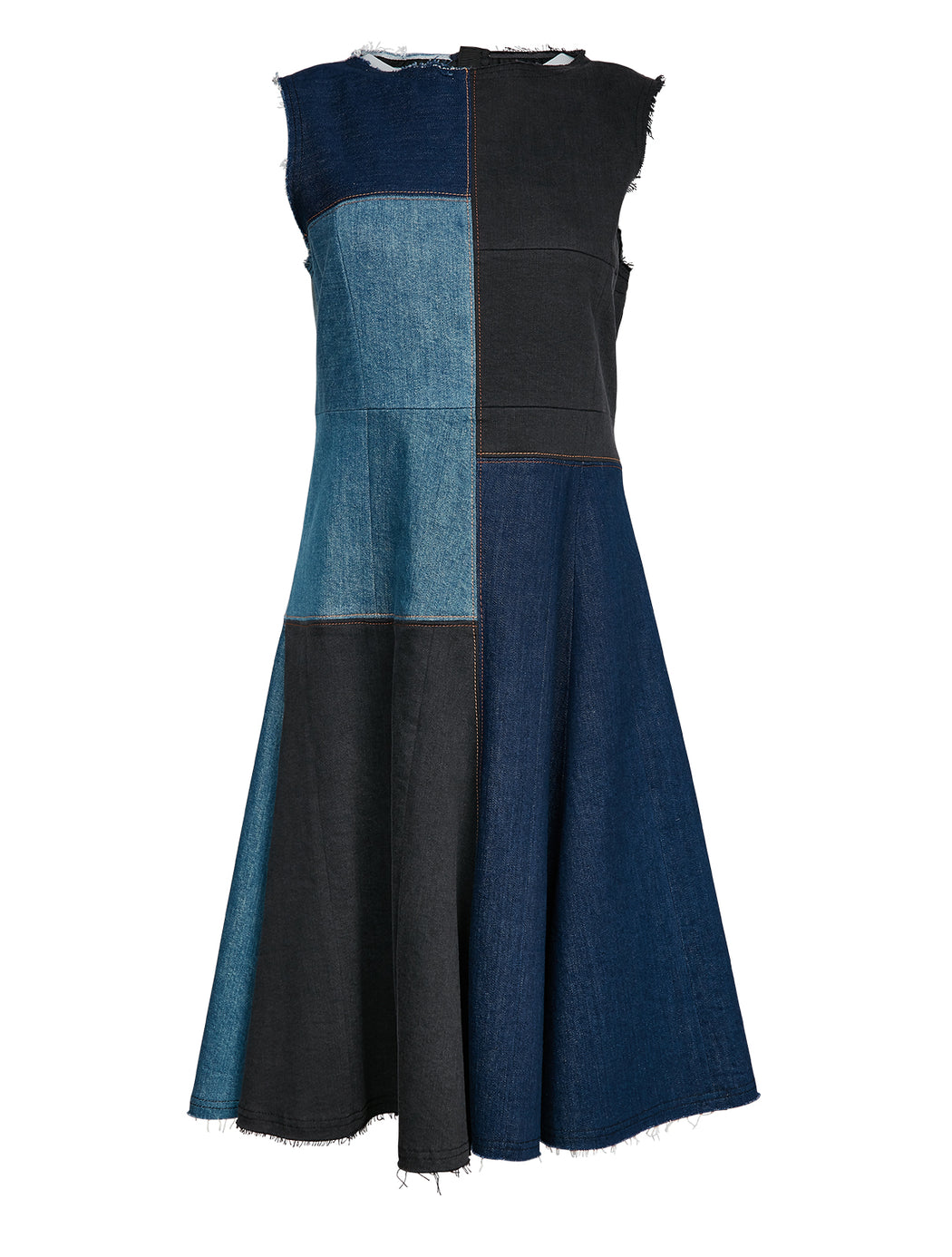 Recrafted Midi Denim Dress