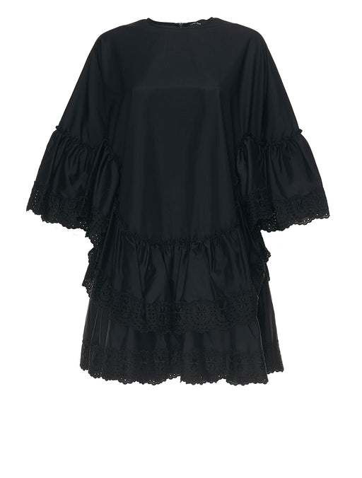 Frill Tier Cape Dress