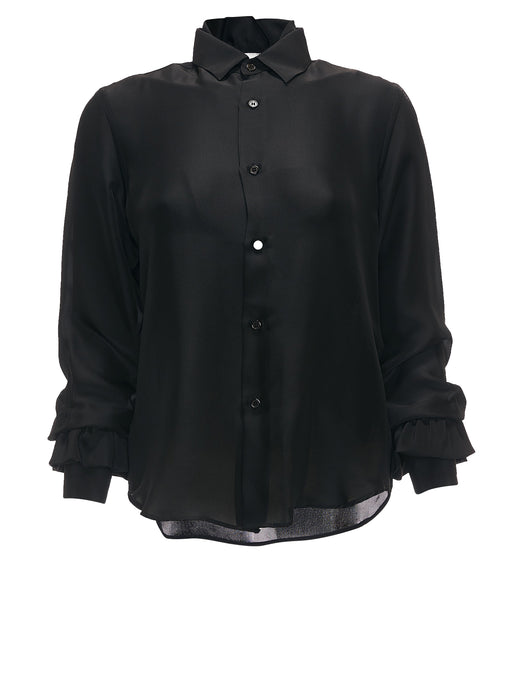 Silk Button Up Blouse