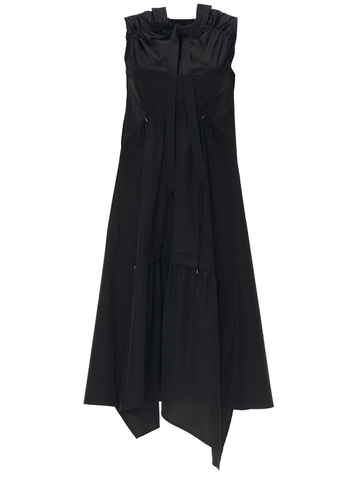 Dican Gathered Asymmetric Dress