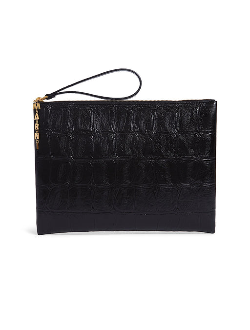 Embossed Leather Pochette