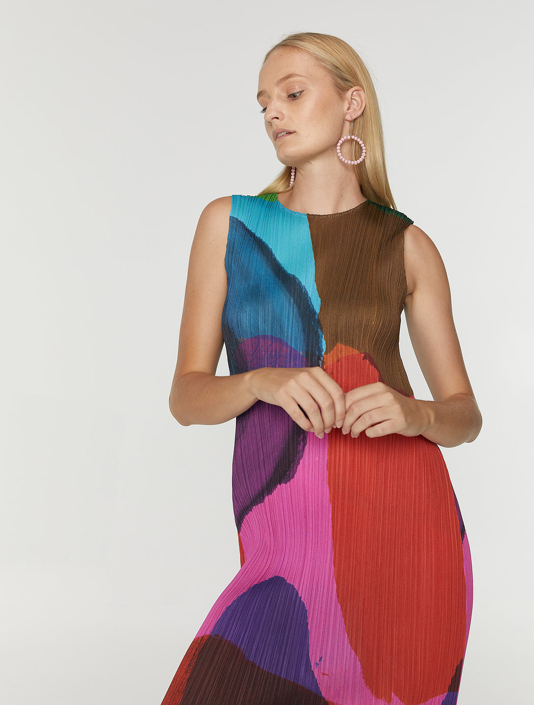 Multicoloured Ink Blot Dress