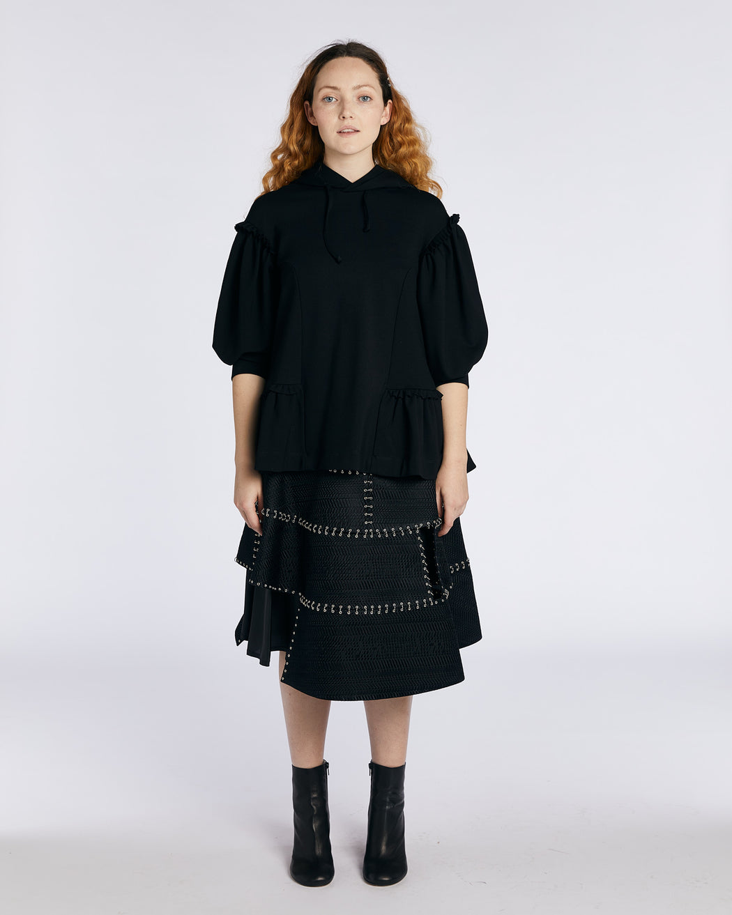 Side Frill Hoodie