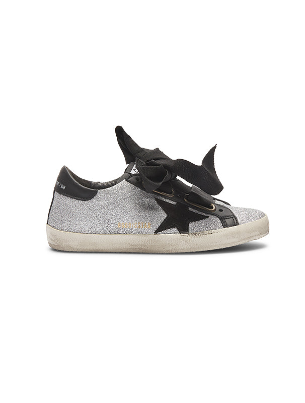 Golden Goose Glitter Ribbon Superstar Sneaker