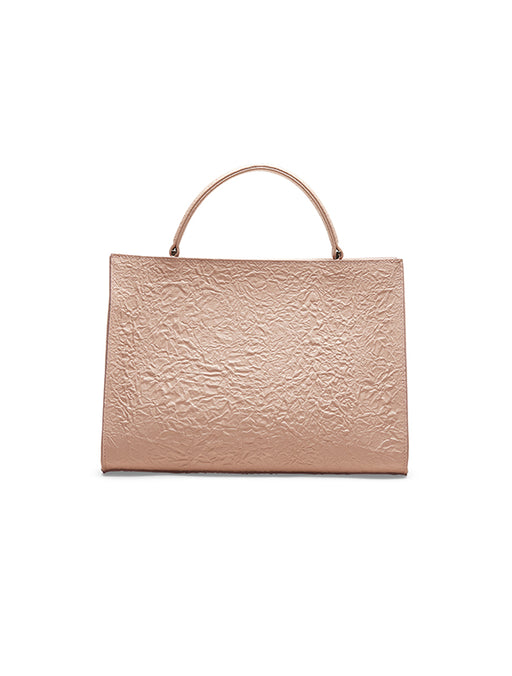 Wrinkled Leather Small Square Bag