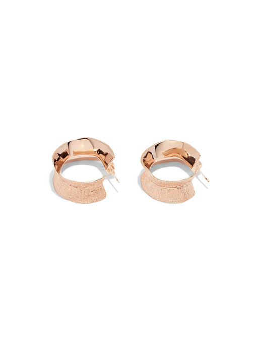 Lucy Folk Molten Hoop Earrings