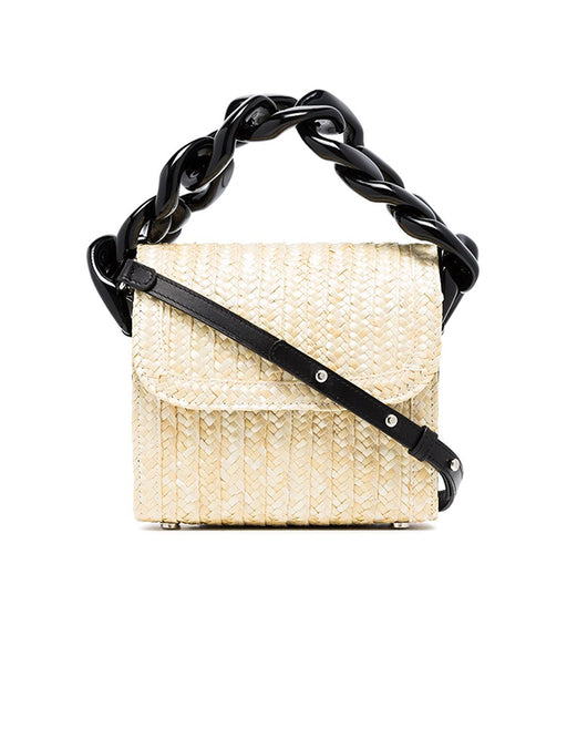Marques Almeida Straw Chain Bag