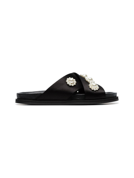 Simone Rocha Beaded Satin Slide