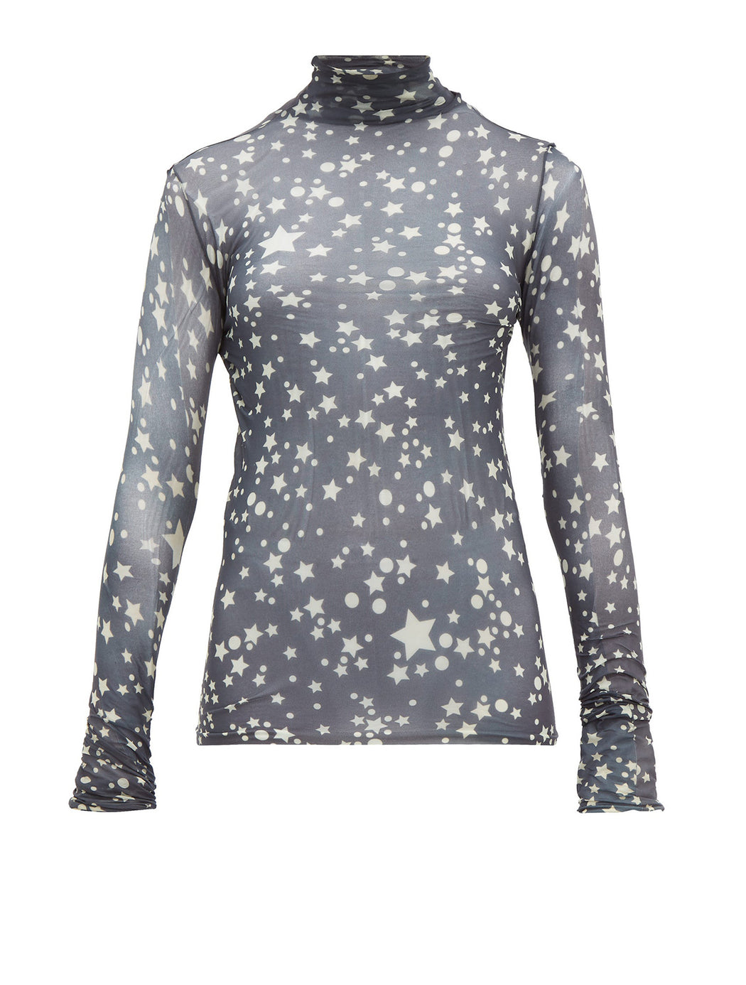 Star Print Roll Neck Top