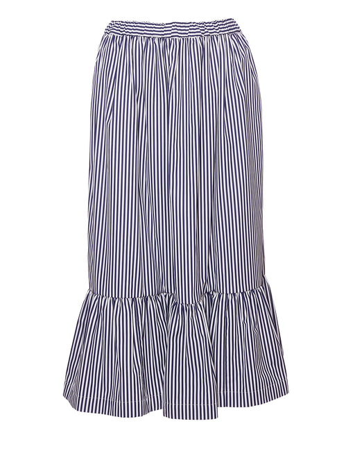 Stripe Gathered Skirt