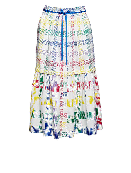 Mira Mikati Mixed Check Cotton Skirt