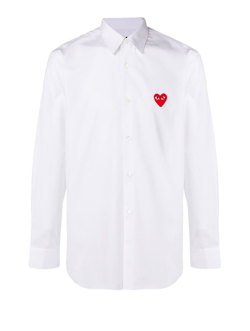 PLAY White Shirt with Red Heart