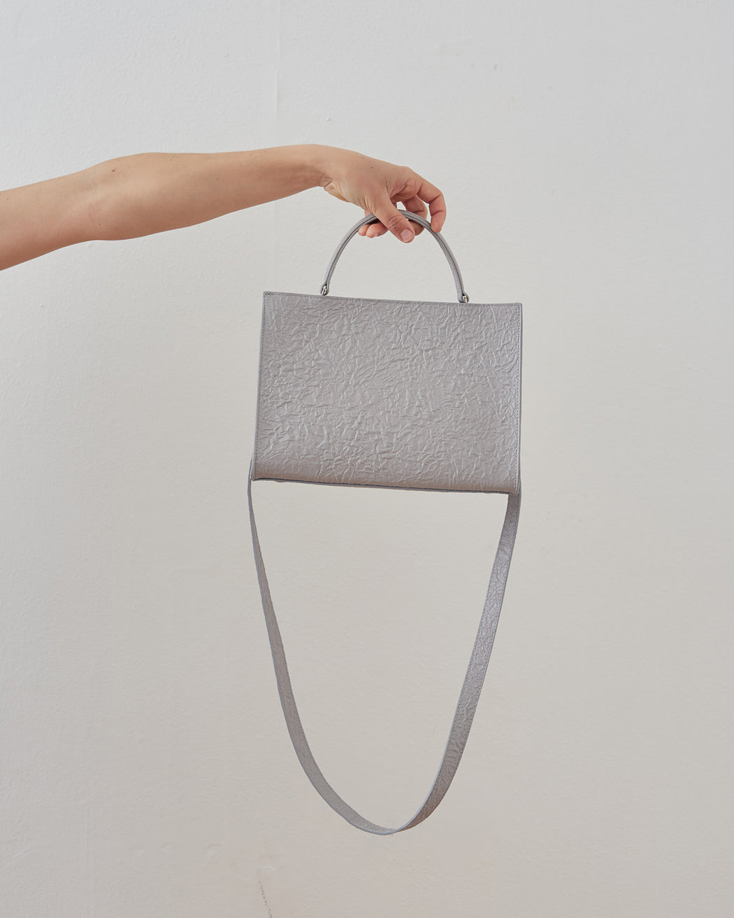 Zilla Wrinkled Leather Small Square Bag