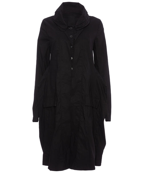 Layered Collar Button Down Coat