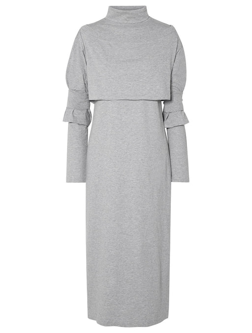 Roll Neck Jersey Maxi Dress