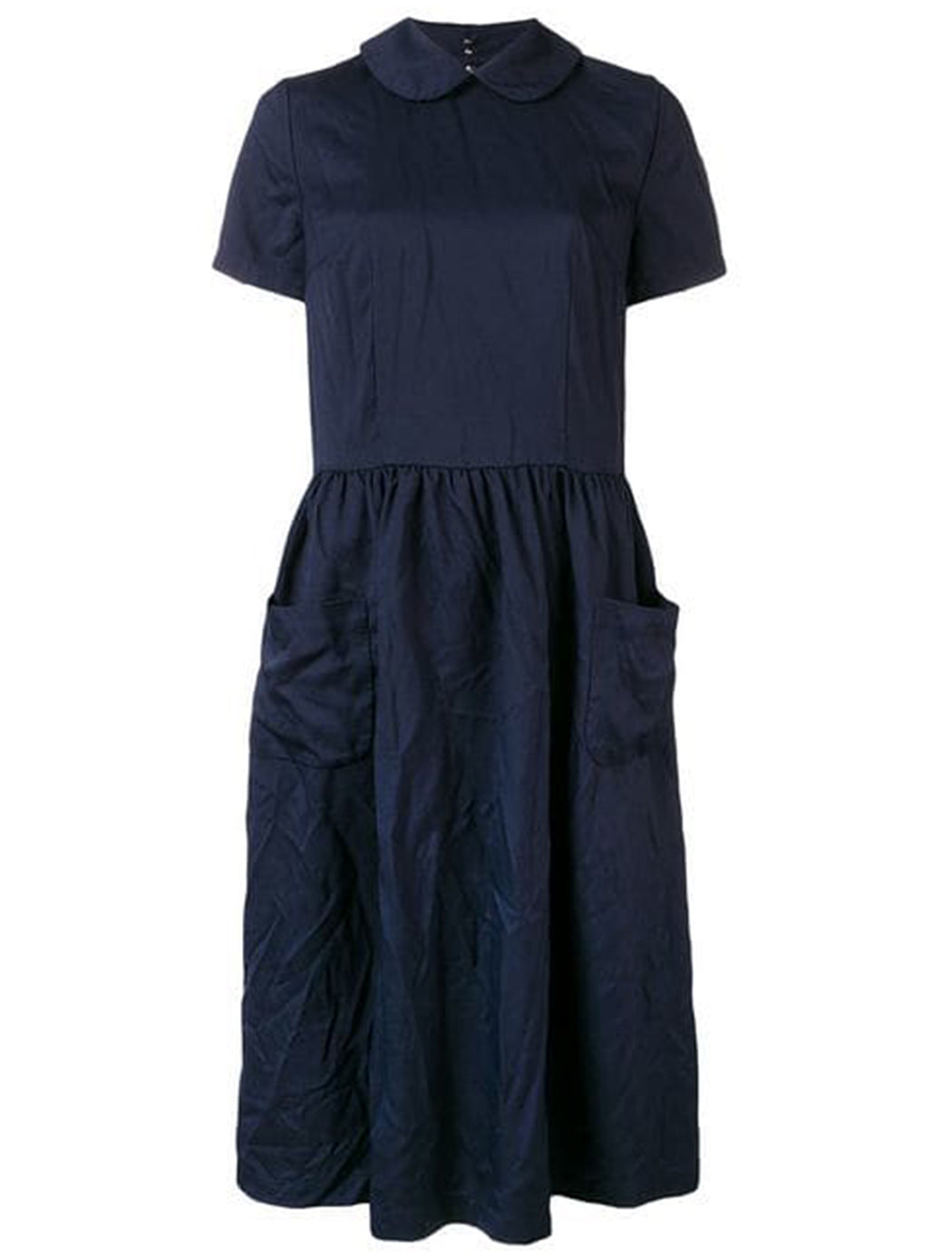 Comme des Garçons Collared Drop Waist Dress
