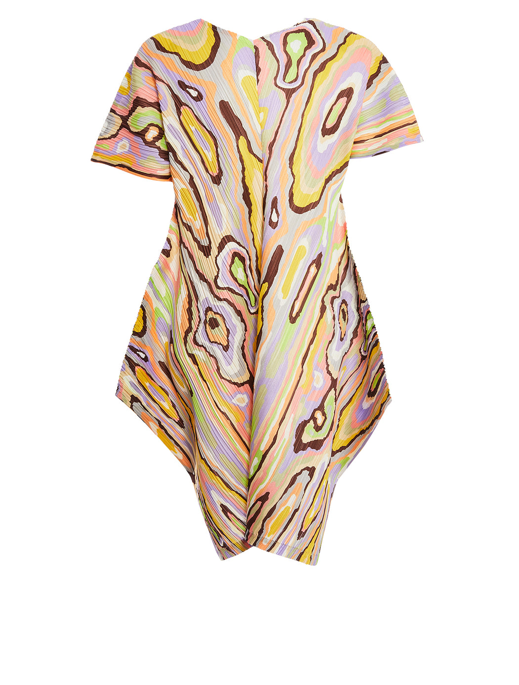 Pastel Wooden Grain Printed Short Dress