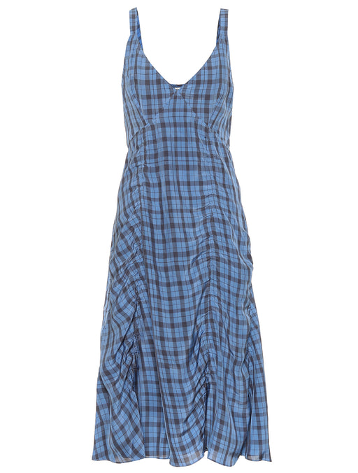 Darcie Liquid Check Dress