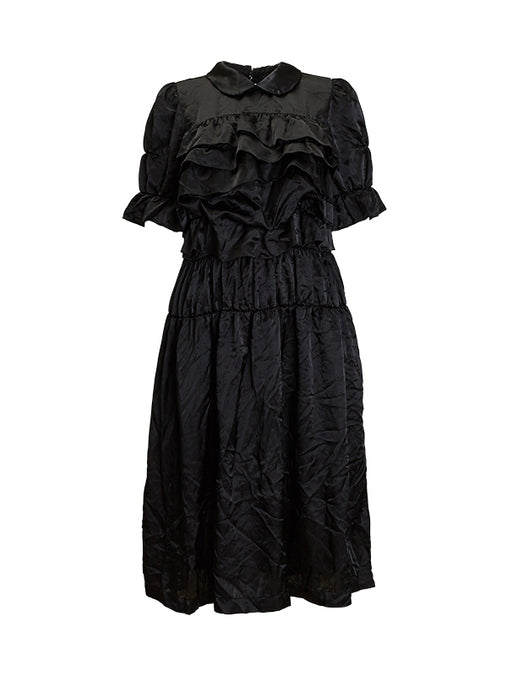 Comme Des Garcons Satin Ruffle Dress
