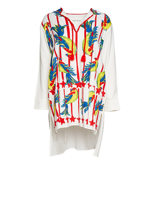 Tsumori Chisato Parrot Stripe Dress