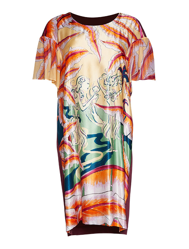 Tsumori Chisato Aloha Girl Silk Dress