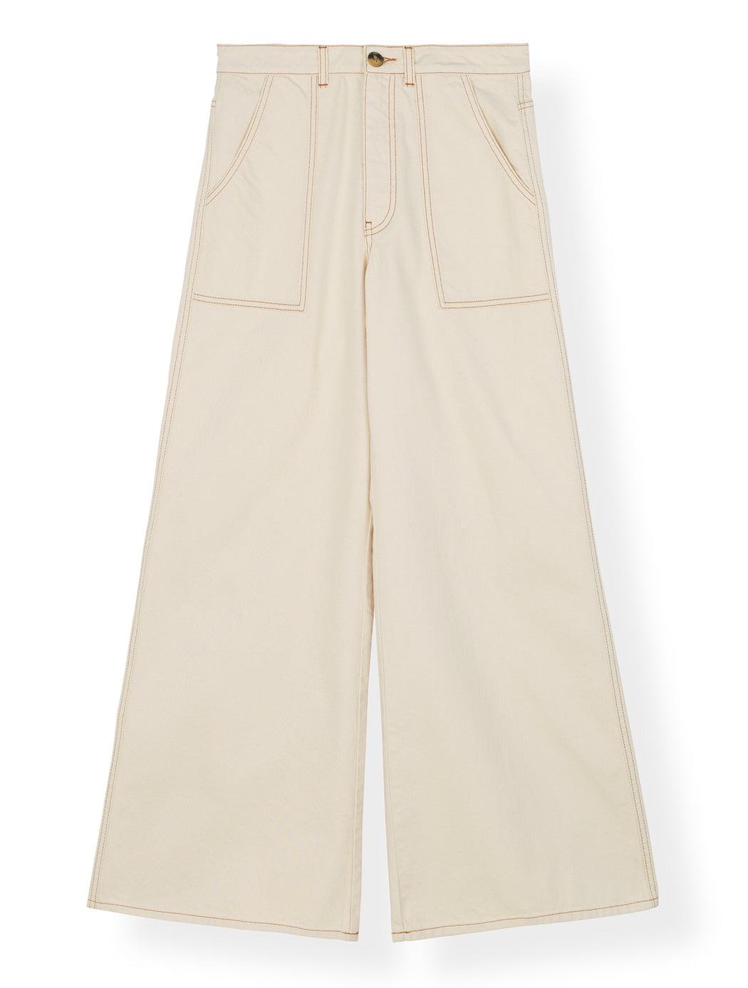 Heavy twill Mid-Waist Pants