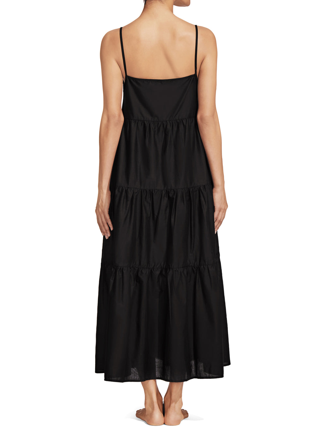 Matteau Black Tiered Sundress