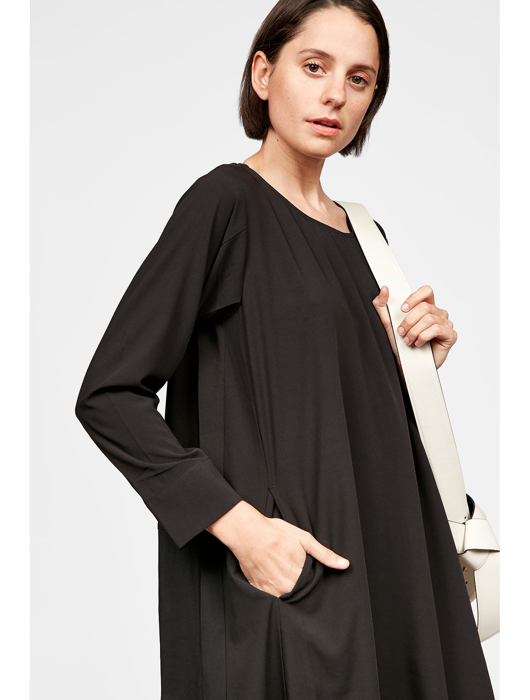 Panel L/S Pocket Dress
