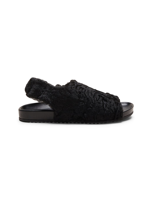 Vintage Persian Black Wool Sandal