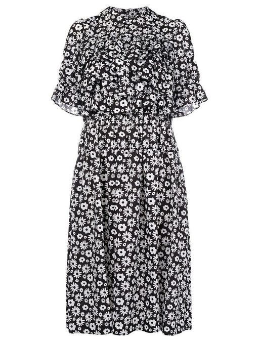 Comme Des Garcons Collared Floral Dress