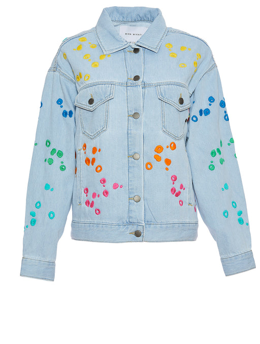 Dot Embroidered Jacket