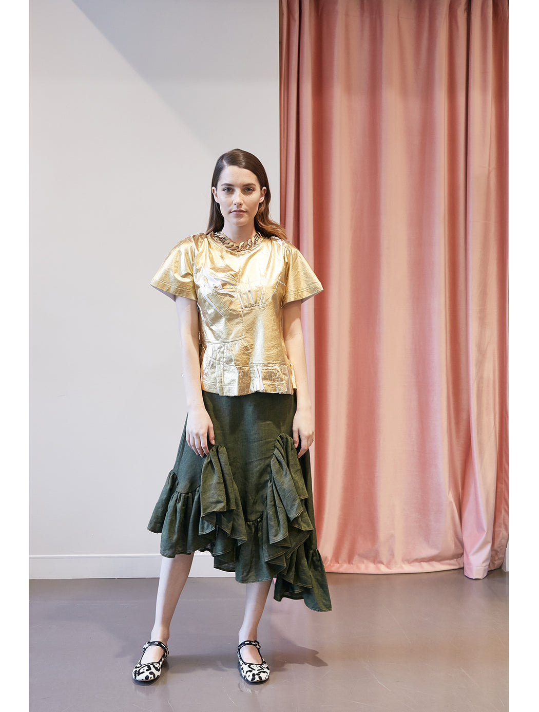 MELTED FRILL SKIRT