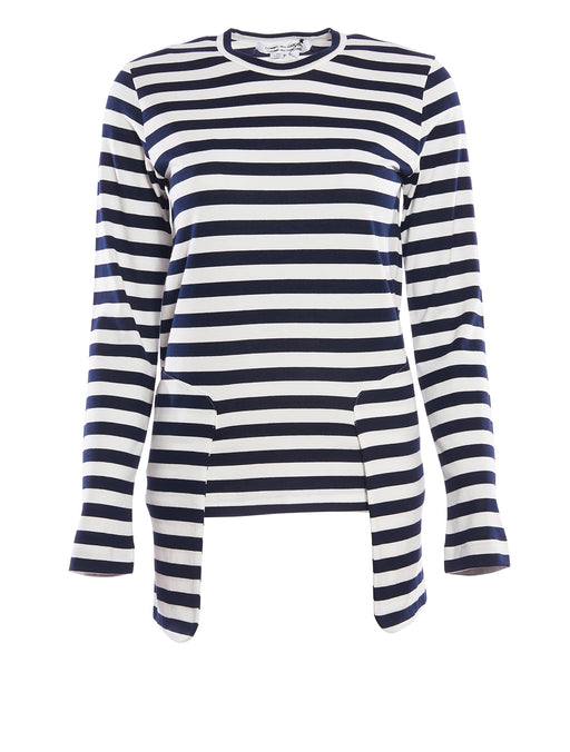 Stripe L/S T-shirt w/ Pockets