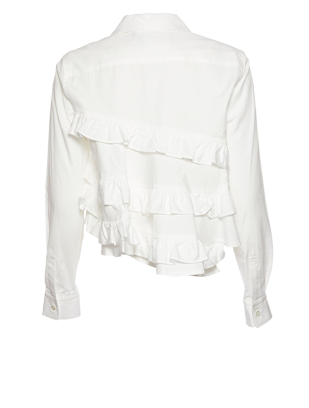 Ruffle Button Up Shirt