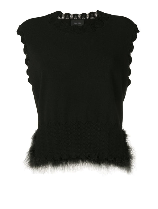 Wiggle Ribbing Vest w/ Marabou Feathers